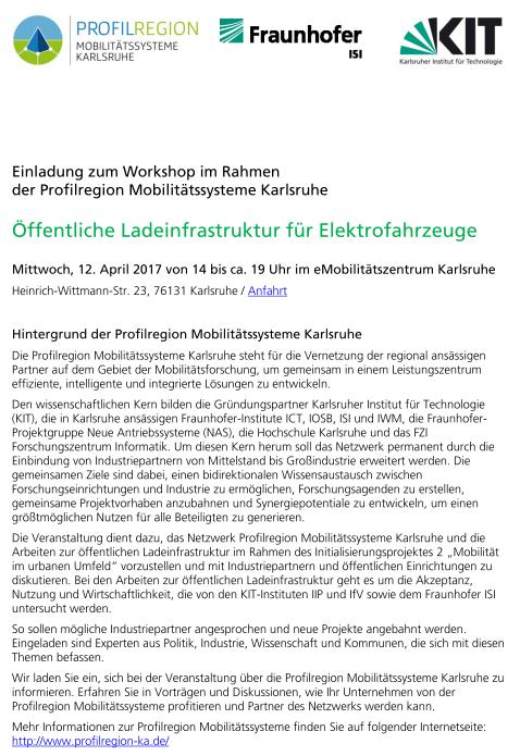 Einladung Workshop Ladeinfrastruktur Preview