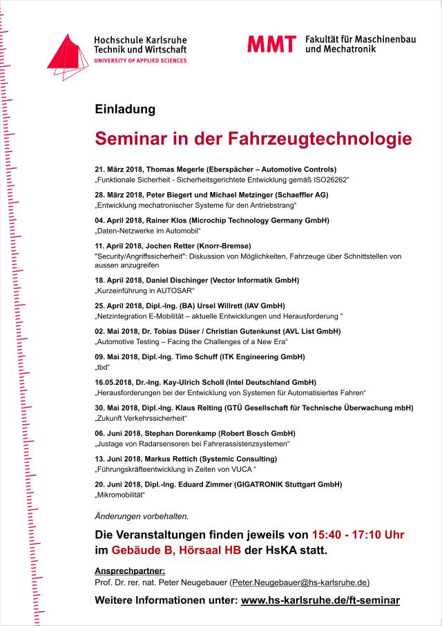 Seminar HsKA SS2018